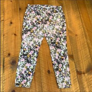 Madewell skinny skinny ankle jeans Floral print 30
